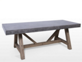 C003 APOLLO Dining Table 100Dx240Wx76Hcm (Legs: Atlantic Brushed)