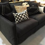 Wisteria Love Sofa + Bisque cushions