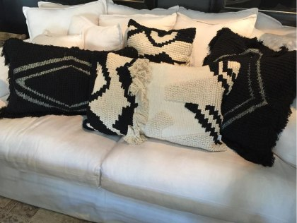 Wisteria Sofa + Bisque & Bandhini cushions