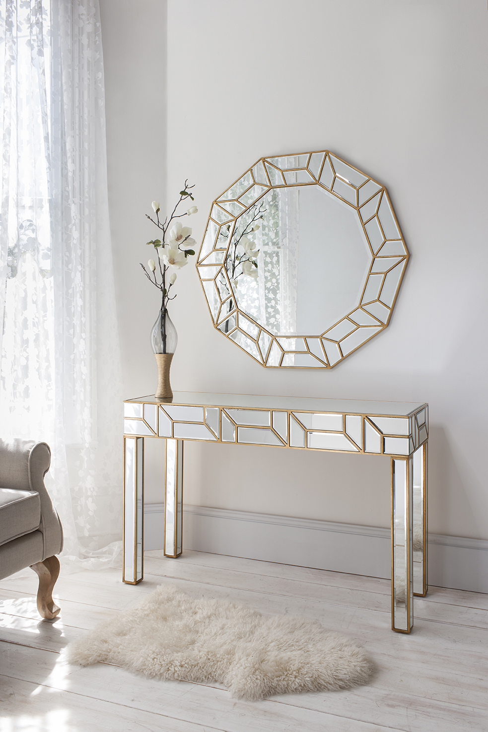Celeste Mirror And Verbier Console Lr Julie Lewis Agency