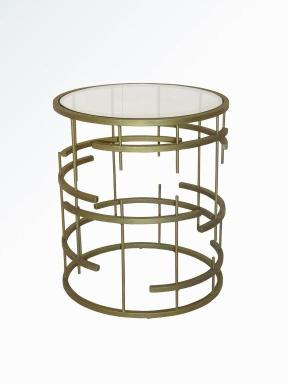 MUNICH SIDE TABLE ANTIQUE GOLD