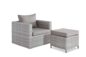 Roman Chair + stool White Grey