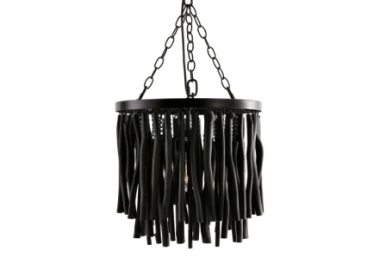 Wood Hanging Stick Light Black