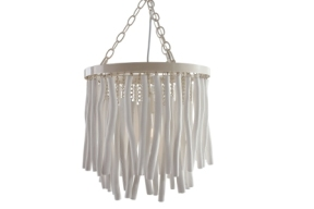 Wood Hanging Stick Light White